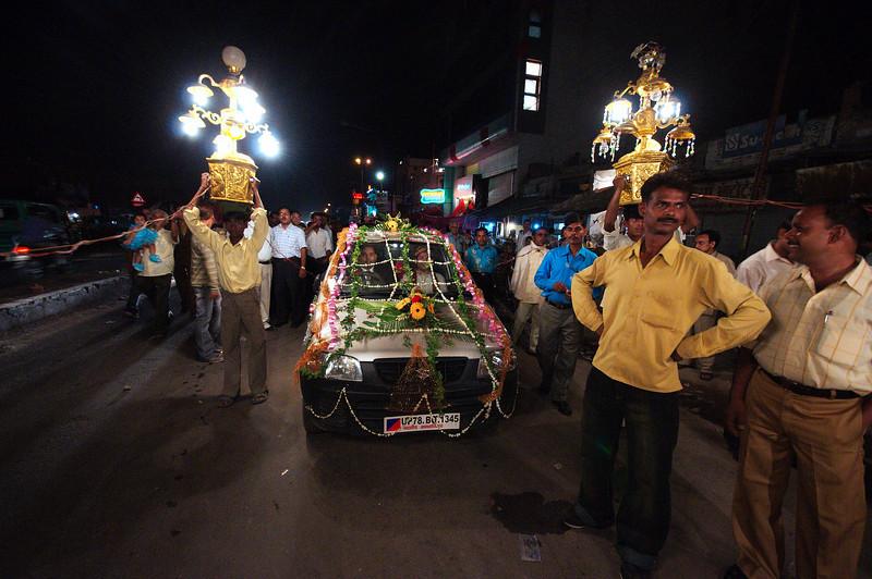 The Barat Nikasi (groom's wedding procession)