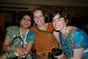 Jyoti, Emilie and Antonia taking a break from dancing