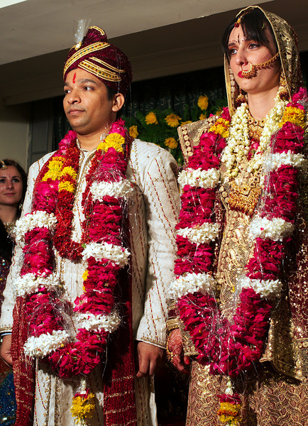 Bride and groom on display for the crowd
