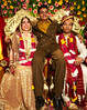 Shanu with his older cousin Jitendra and his new wife Lucie