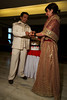 Jitendra and Lucie exchange wedding bands