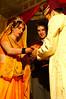 Vivan Havan: The bride and groom say prayers and make offerings around the sacred fire