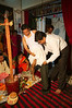 Prashant (Jitendra's brother-in-law)  dressing Jitendra