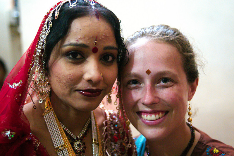 Emilie and Kalpana (Jitendra's sister-in-law)