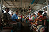 Heading to the train station by boat across Kolkata's Hooghly River
