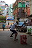 Playing an afternoon game of cricket on the backstreets of Kolkata