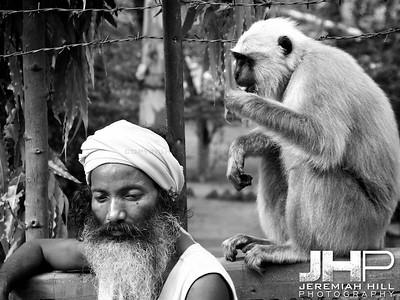 """""""Monkey Baba I"""", Rishikesh, Uttaranchal, India, 2007 Print IND373-457"""
