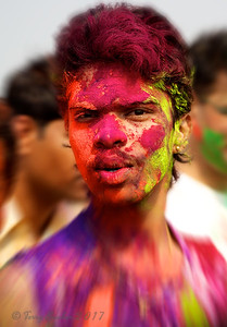 Playing Holi in Mumbai, Juhu Beach