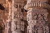 Asia. India. Column details at the Alai-Darwaza complex in New Dehli.