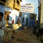 Internet Caf� in Jaisalmer Fort