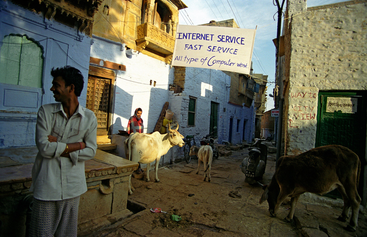 Internet Café in Jaisalmer Fort