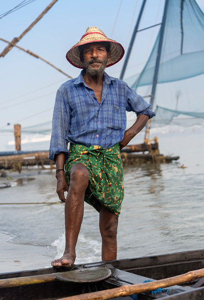 Indian fisherman, Fort Kochin