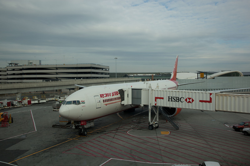 Leaving JFK on Air India.