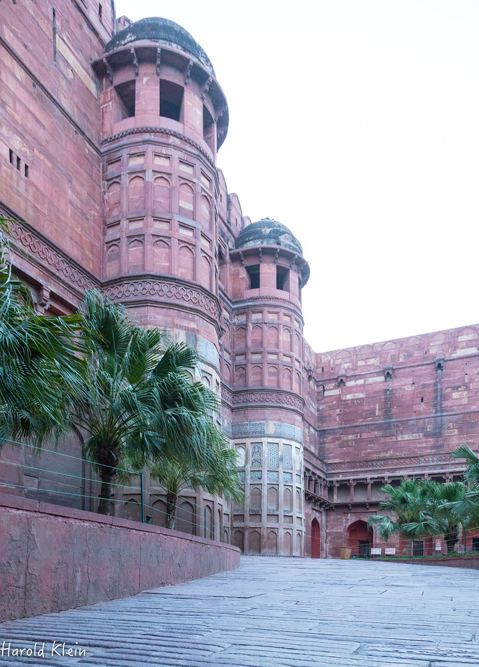 Fort at Agra...early am...well before open to the public...Thanks Adil!!!