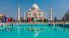 Asia. India. View of the Taj Mahal in Agra, a tomb built by Shah Jahan for his favorite wife, Mumtaz Mahal.