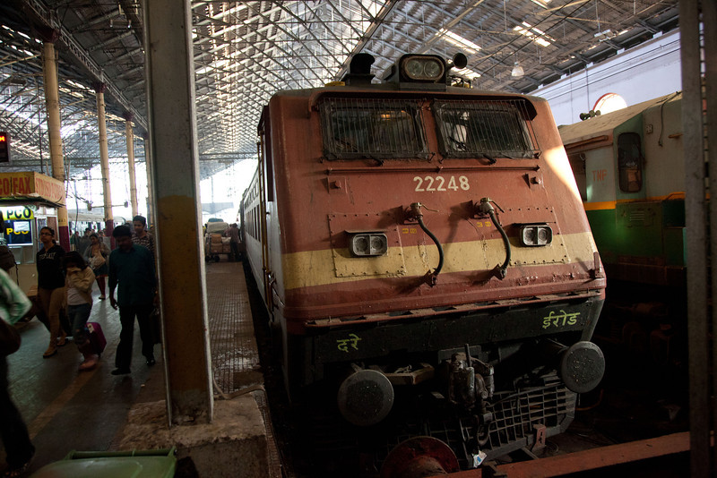 This is the locomotive that took our train to Chennai.