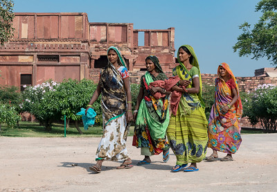 Indian Women in Traditional Sari
