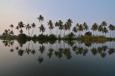 Backwaters of Kerala, India.