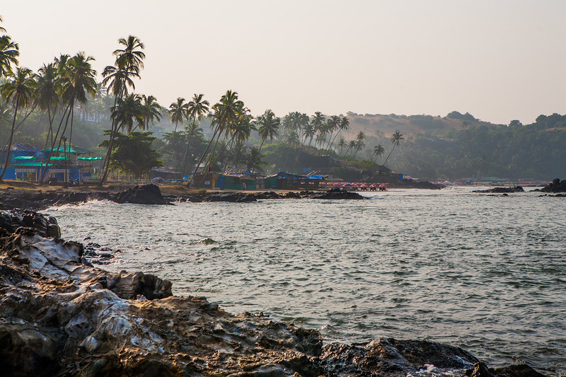 Coastline of the Vagator beach in Goa