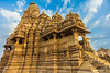 Asia. India. Hindu temples at Khajuraho, a UNESCO World Heritage site, are famous for their erotic carvings.