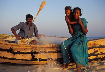 Probably my favorite family portrait I've ever taken.  This was in a very remote peninsula of SE India (called Dhuneshkodi).  I stayed with this family for a night--slept on the floor of their beach home.