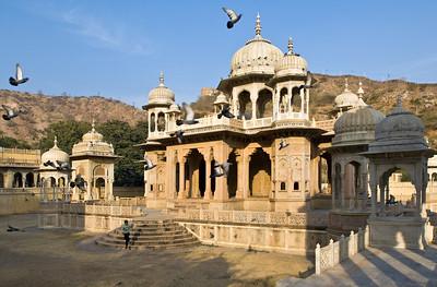 Gatore Japur mausoleum in Jaipur