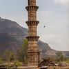 Mosque with a single minar, Champaner, Gujarat, India