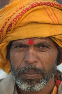 Pilgrim at the 2013 Kumbh Mela in Allahabad, India.