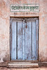 Colorful old door at hut in Bandhavgarh NP, India