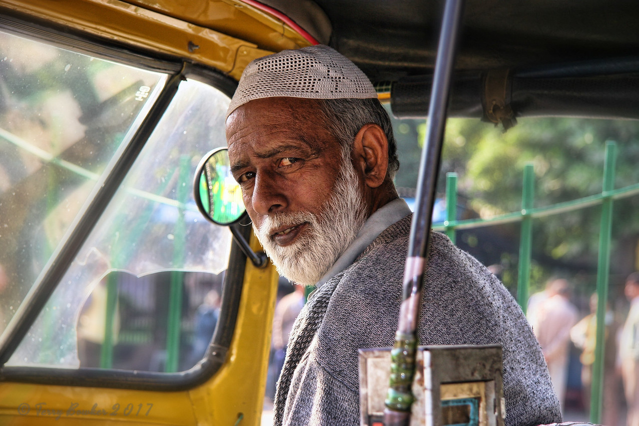 Auto-Rickshaw-wallah, New Dehi, India