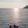 Kayaking near the Miramar beach in Goa