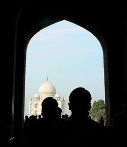 Walking into the Taj Mahal.  Simply breathtaking.