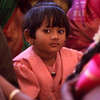 Young girl at a wedding, Hampi, India.
