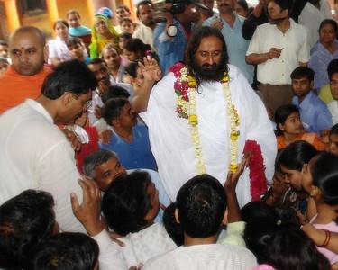Jai Gurudev Among His Followers