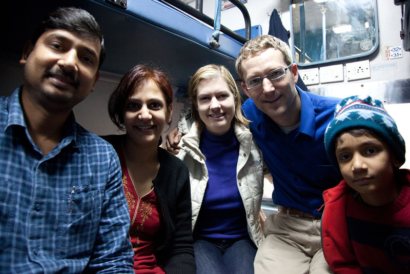 We shared the compartment with this family on our trip from New Delhi to Chennai.