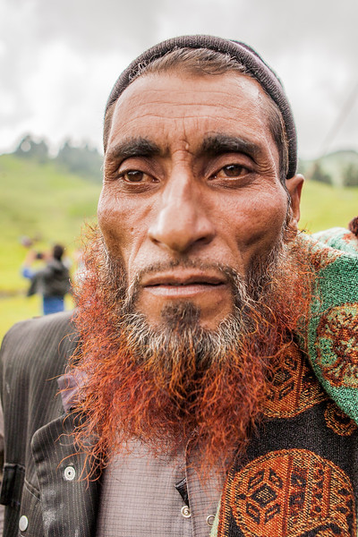 A Gujjar man on Dayara Bugyal for the butter festival