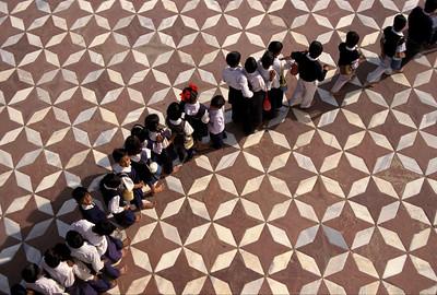 School children (field trip) at Taj Mahal in Agra, India