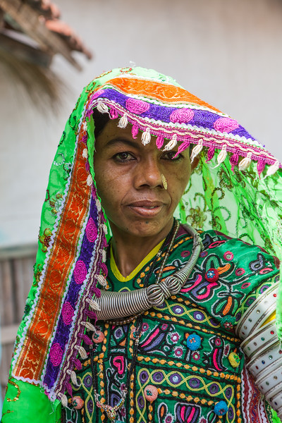 A woman from the village of Hodko in the Kutch region of Gujarat, India