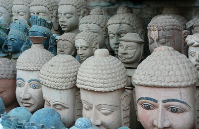Buddhist statues for sale in Jodhpur, India.