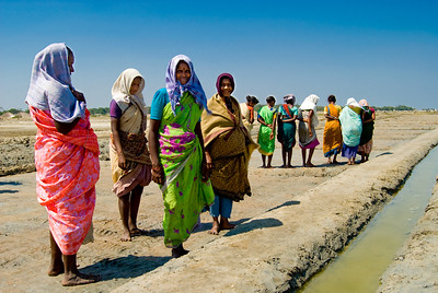 Women working in the salt pans 2