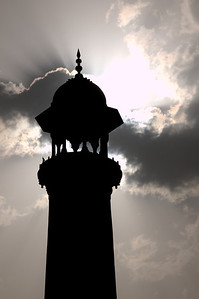 Minaret at Taj Mahal in Agra, India