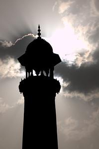 Minaret at Taj Mahal in Agra, India