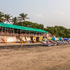 Shacks at the Ashvem beach in Goa