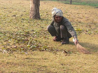 Yardsman in Lodi Garden.  New Delhi, India.