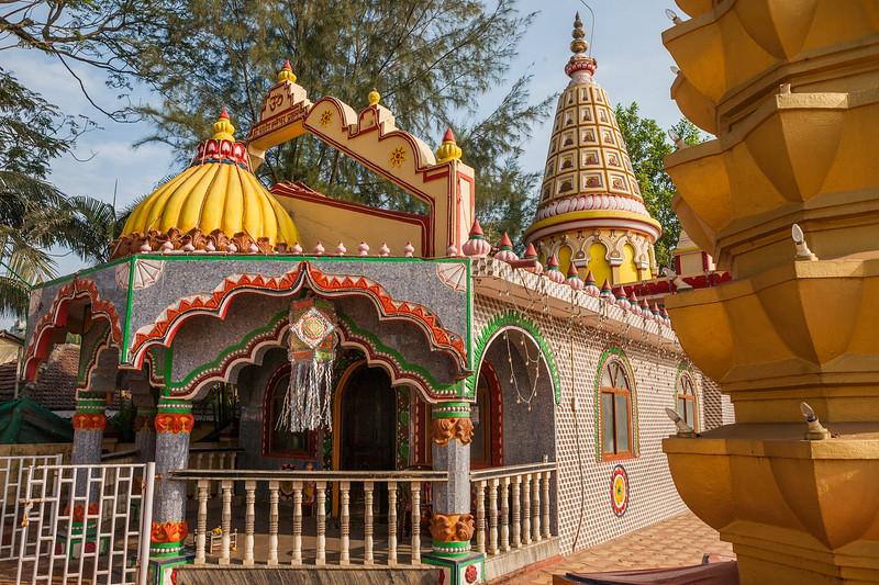 Temple at Baga beach in Goa