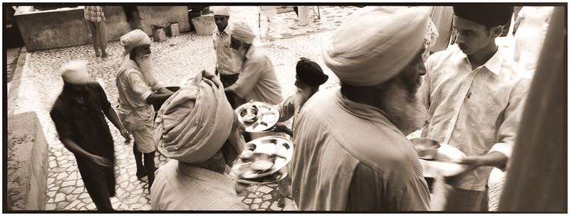Amritsar - cuisine du Temple d'Or