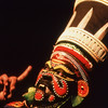 Man plays role of demoness in Kathakali performance in Varkala, India.