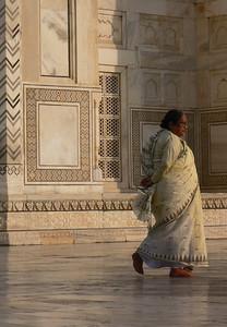 Tourist at Taj Mahal.