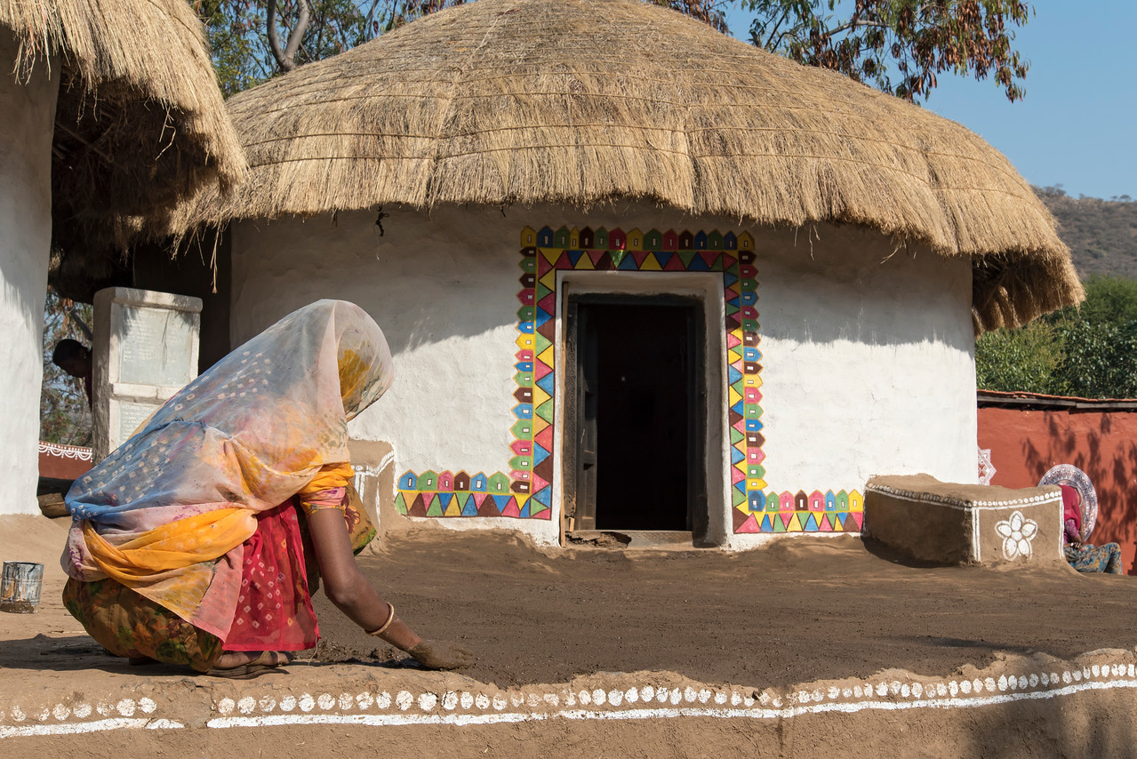 Traditional Tribal House, Shilpgram