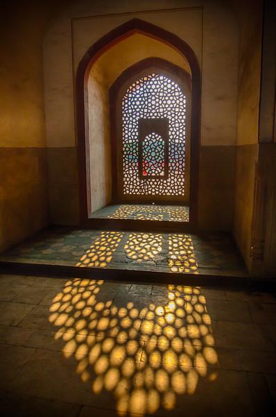 Asia. India.Interior view of Humayun's Tomb in New Dehli.